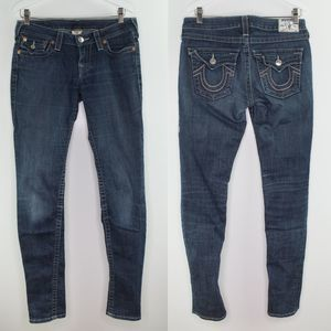 TRUE RELIGION Skinny Fit Stretch Jeans Low Rise 29